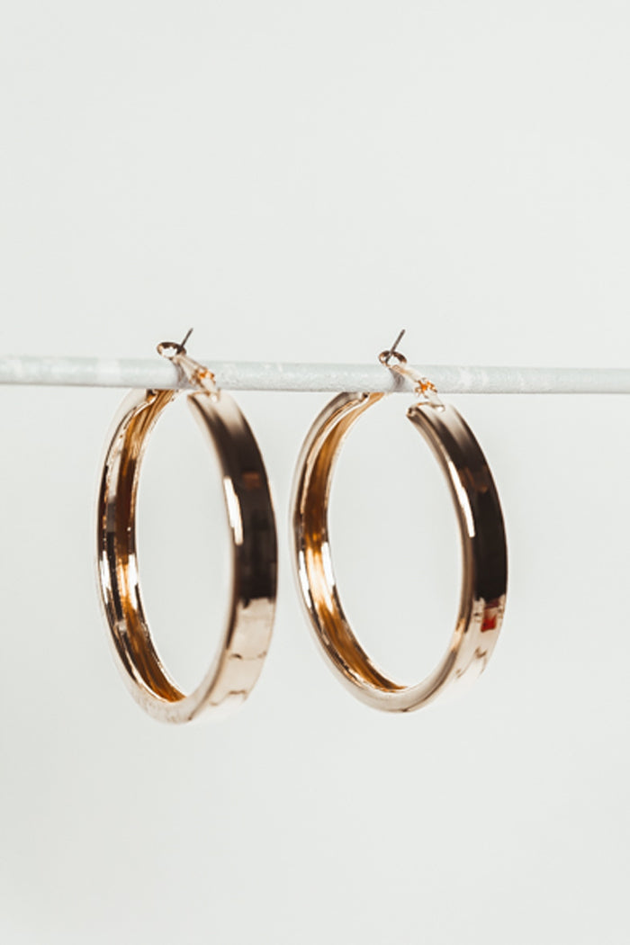 Large Plated Hoop Earrings