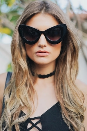 Sophie Cat Eye Sunglasses - Black - Haute & Rebellious