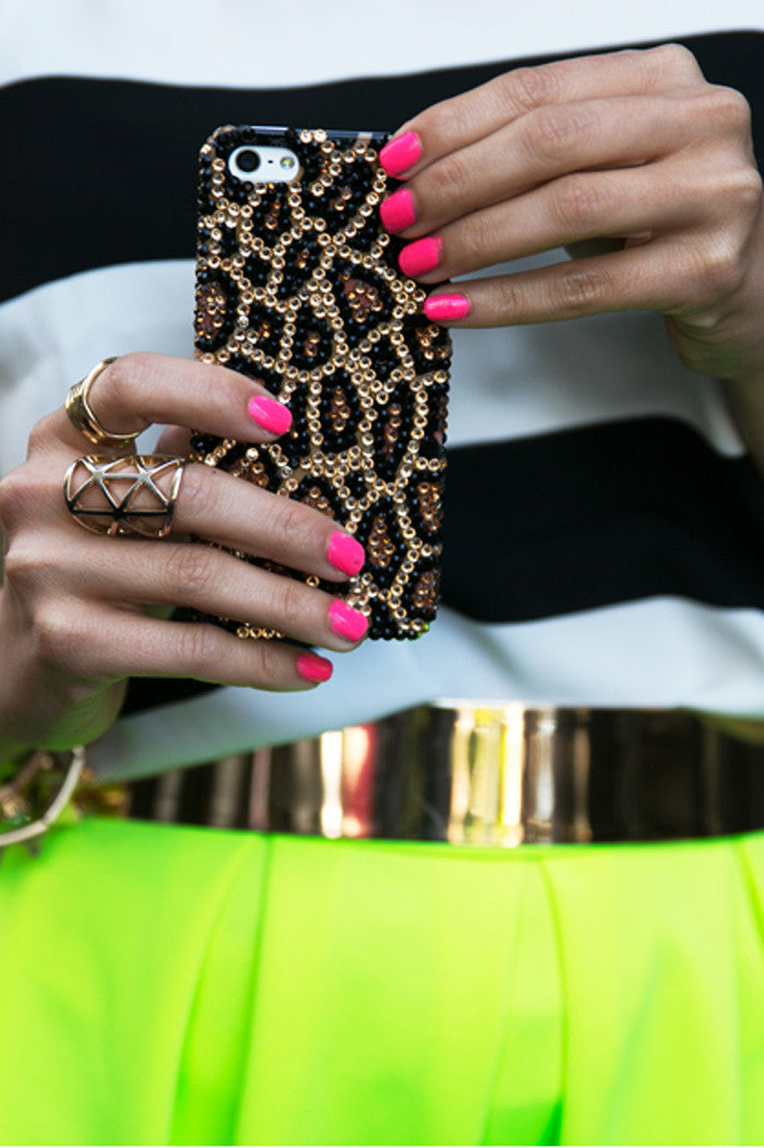 SPARKLE STONES CHEETAH IPHONE 5 CELL CASE - Haute & Rebellious