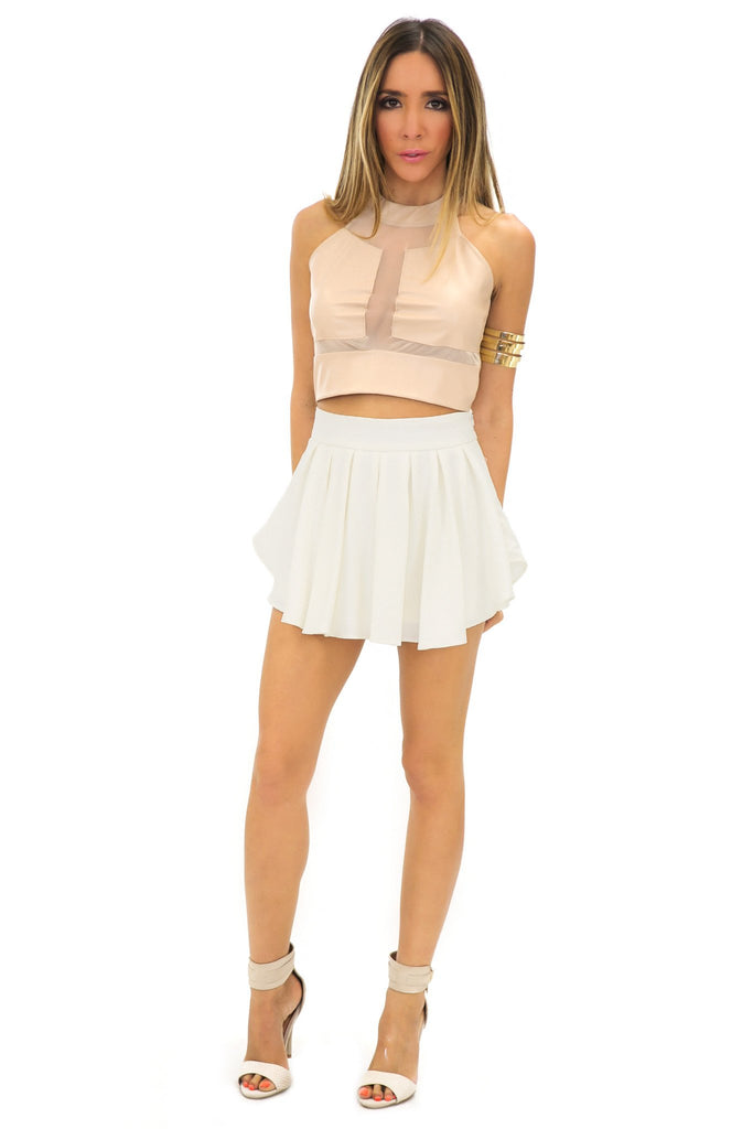 ELLISA SKORT - Off white