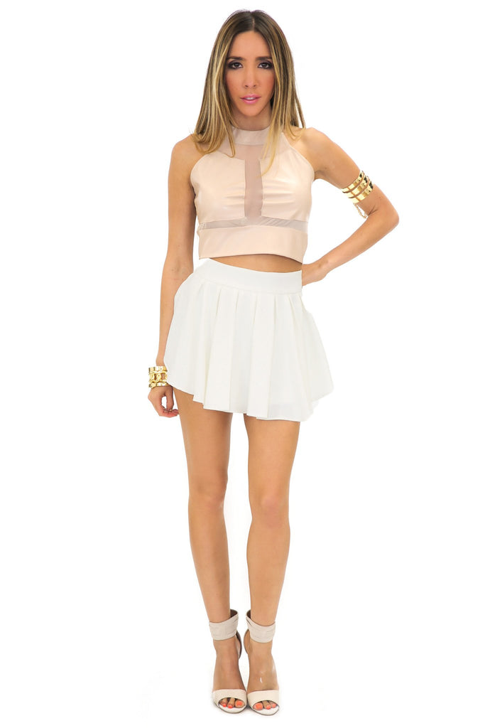 ELLISA SKORT - Off white - Haute & Rebellious