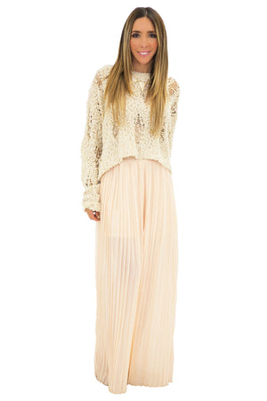 BAILEY PLEATED LONG SKIRT - Haute & Rebellious