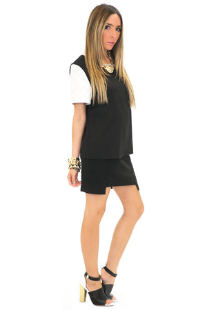 DUNN QUILTED VEGAN LEATHER TOP - Haute & Rebellious