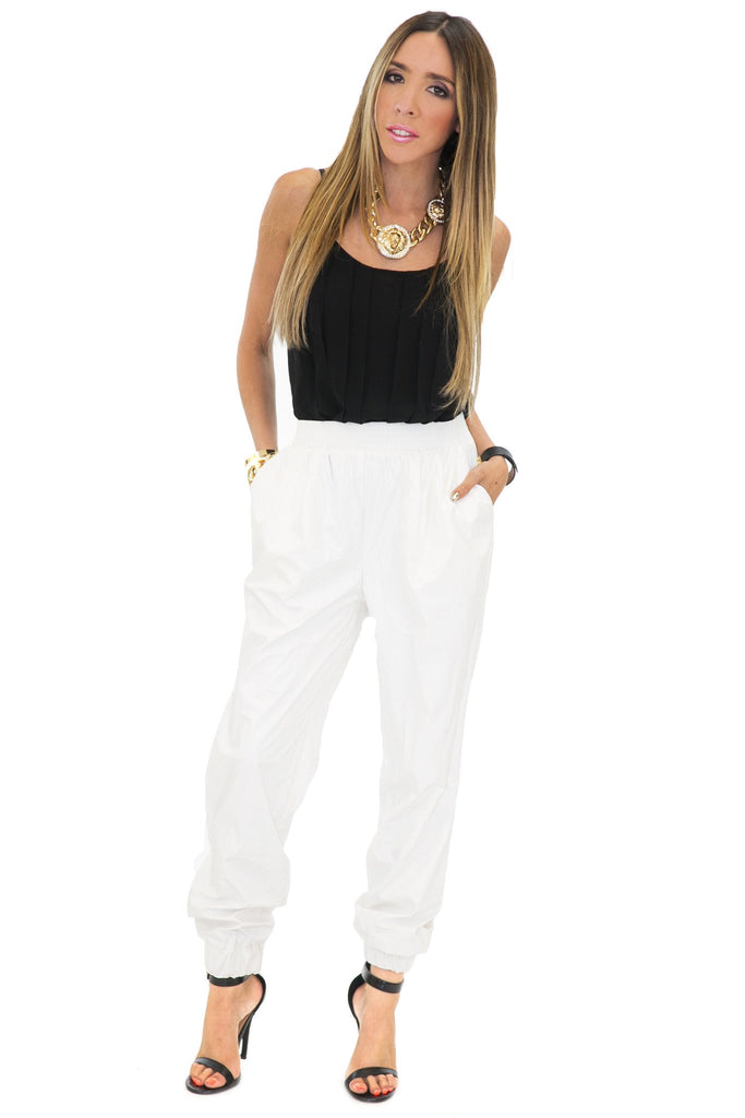 MOON LANDING PANT - White - Haute & Rebellious