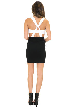 KRIS CROSS CUTOUT DRESS - Haute & Rebellious