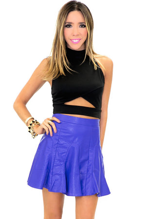 NELLI A-LINE LEATHER SKIRT - Haute & Rebellious