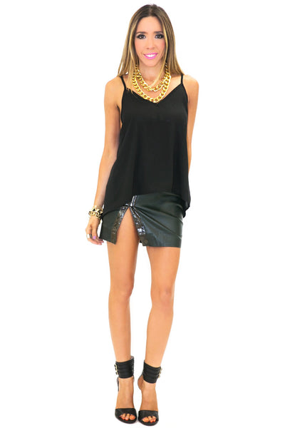 JOIE CHIFFON TOP - Black - Haute & Rebellious