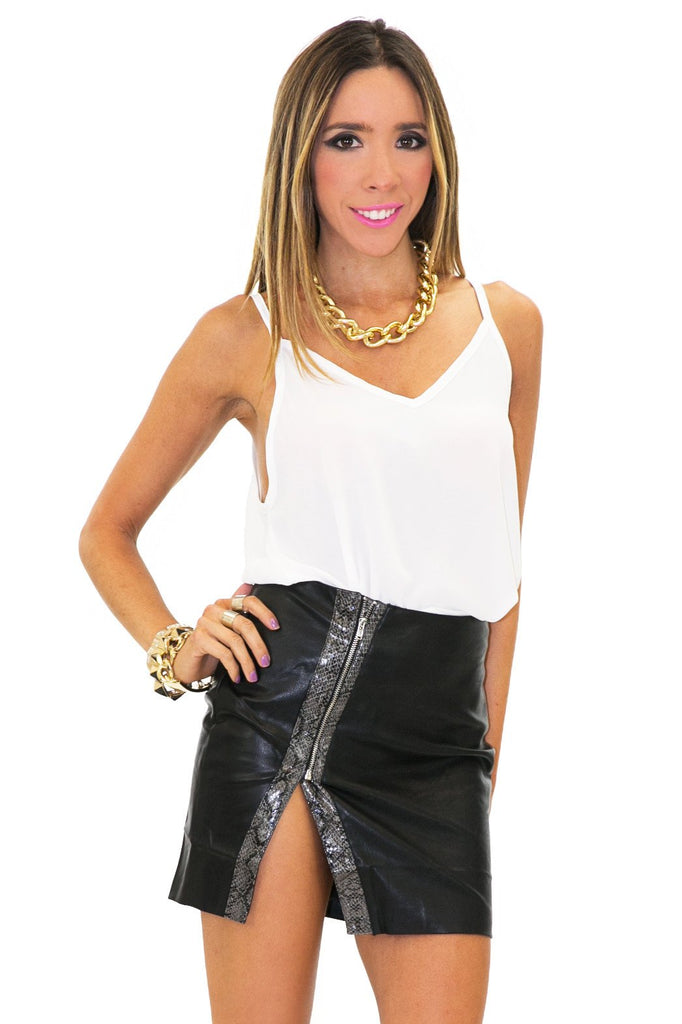 JOIE CHIFFON CROP TOP - White - Haute & Rebellious
