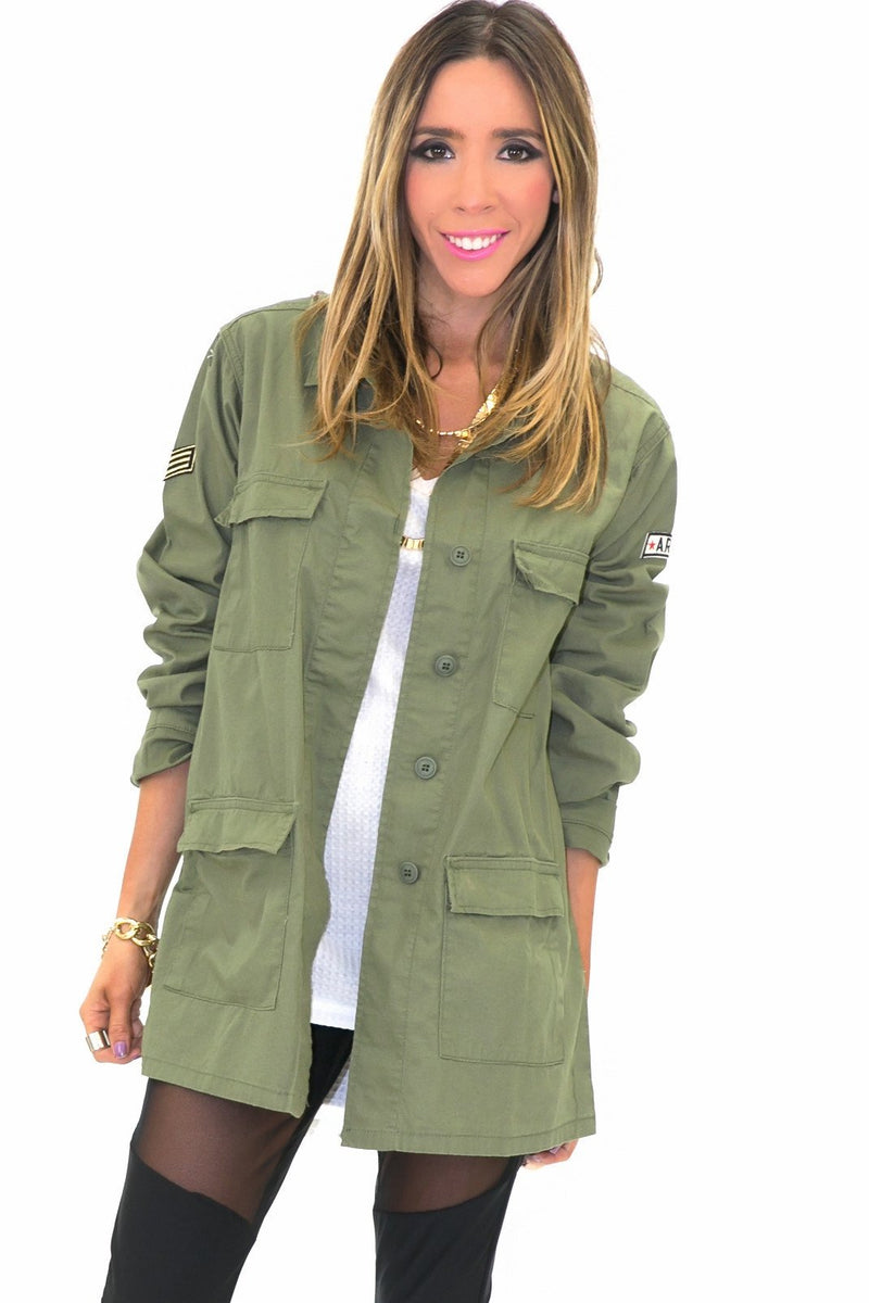 DRILL ARMY LIGHT JACKET - Haute & Rebellious