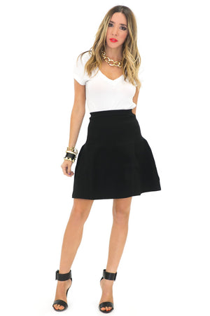 ISSA HIGH-WAISTED A-LINE SKIRT - Haute & Rebellious