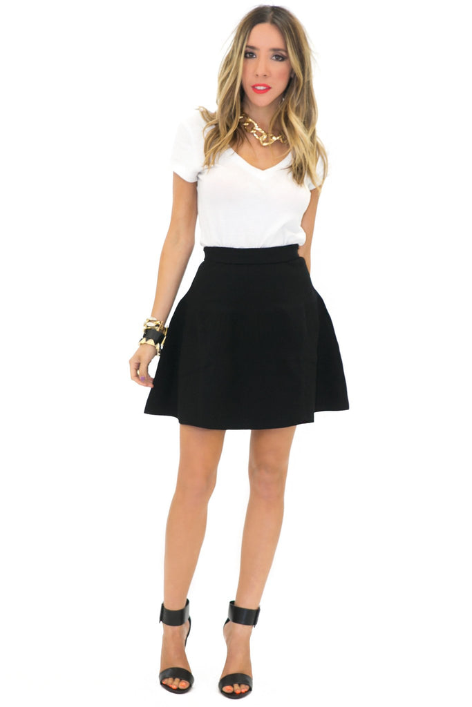 ISSA HIGH-WAISTED A-LINE SKIRT