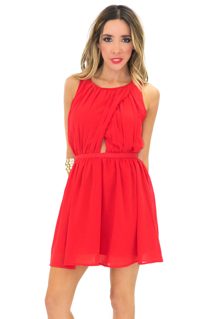 VICKI CHIFFON A-LINE DRESS