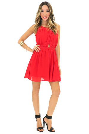 VICKI CHIFFON A-LINE DRESS - Haute & Rebellious
