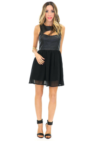 DINA CONTRAST A-LINE DRESS - Haute & Rebellious