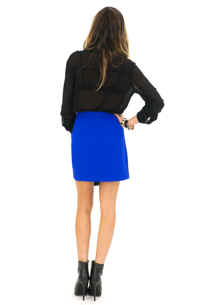 BLAIR COLORBLOCK ASYMMETRICAL SKIRT