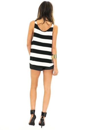 BELLA STRIPE SCOOP BOTTOM TANK - Haute & Rebellious