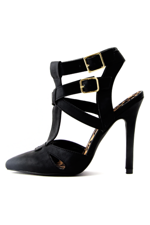 ALEXANDER MULTI STRAP PUMP - Black - Haute & Rebellious