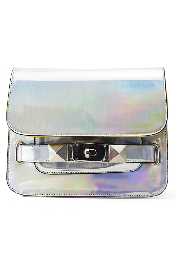PS HOLOGRAPHIC METALLIC BAG - Light Silver - Haute & Rebellious