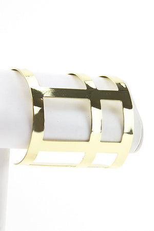 GLADIATOR GOLD CUTOUT CUFF - Haute & Rebellious