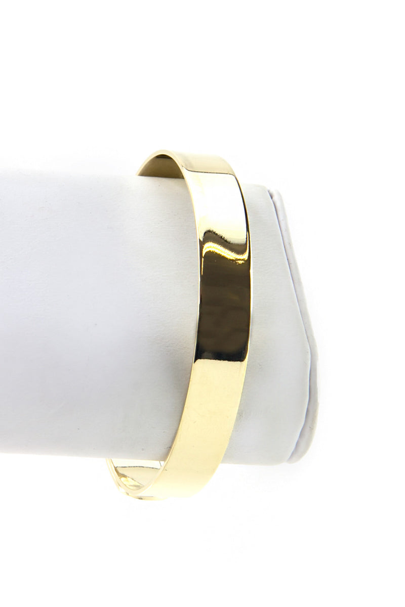 SOLID GOLD PLATED CUFF BRACELET - Haute & Rebellious