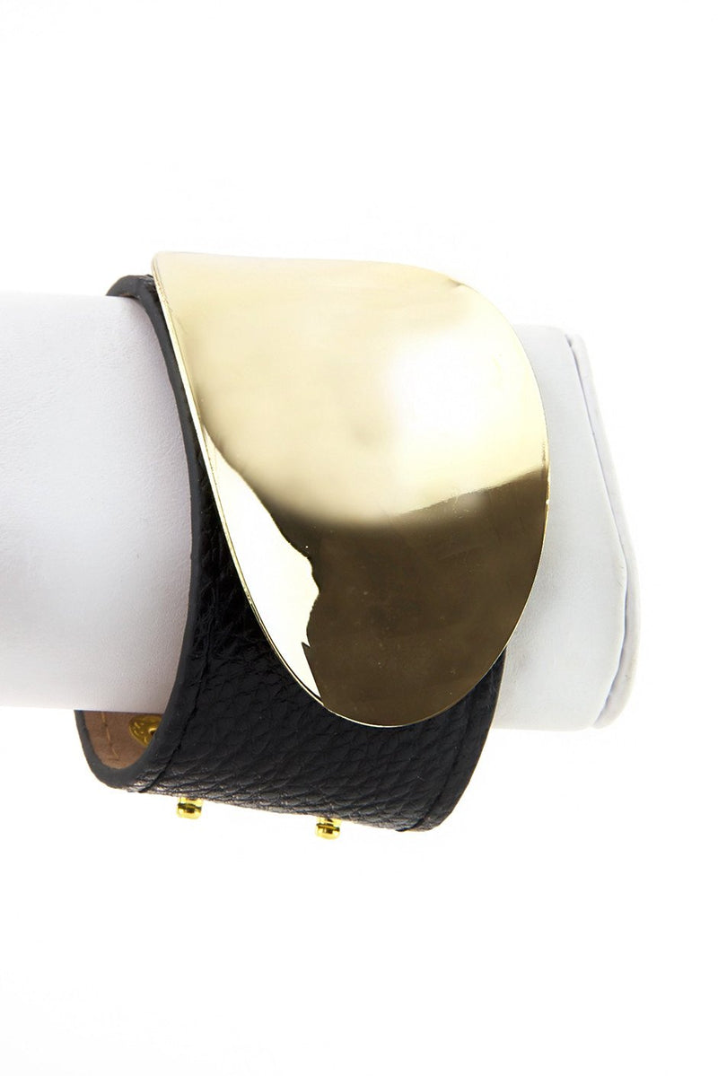 GOLD BUCKLE PLATED LEATHER BAND - Haute & Rebellious