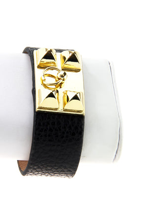 PETITE DOUBLE BUCKLE BAND - Gold/Black - Haute & Rebellious