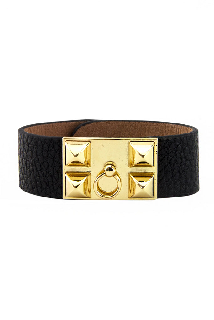 PETITE DOUBLE BUCKLE BAND - Gold/Black