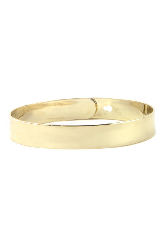 SOLID GOLD PLATED CUFF BRACELET