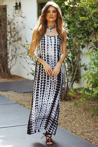 In To The Night Tie Die Maxi Dress