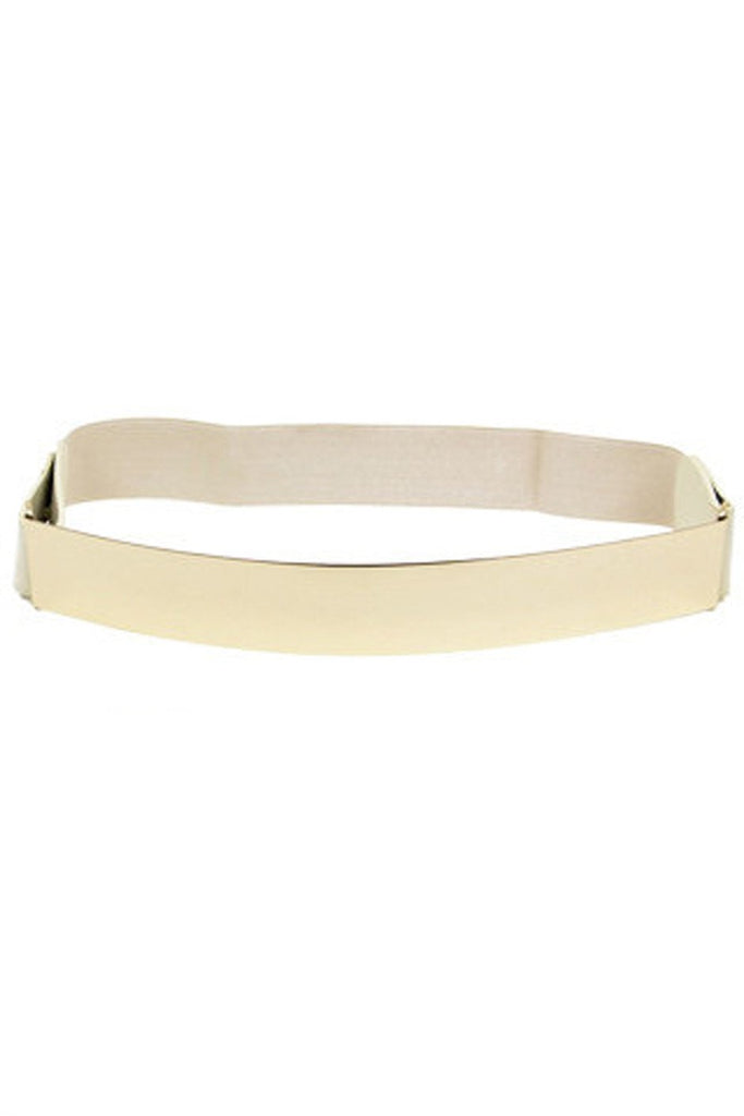GOLD PLATED BELT - Cream