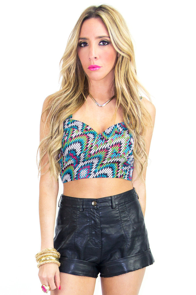 TRIBAL DAZE PRINT BRALLETE