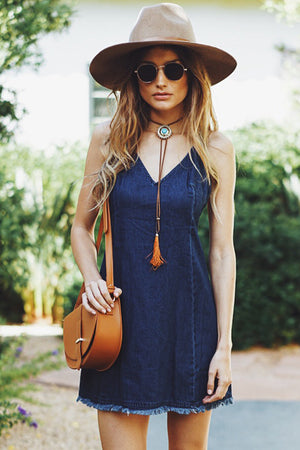 Thora Denim Dress - Haute & Rebellious