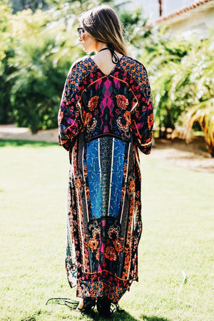 Colony Trip Print Kaftan - Haute & Rebellious