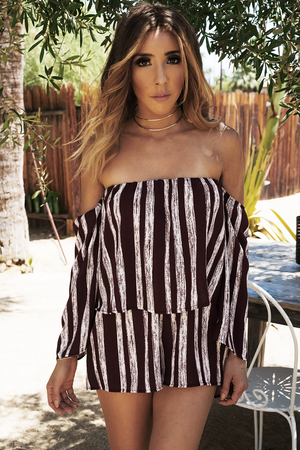 Be The One Off-Shoulder Romper - Haute & Rebellious