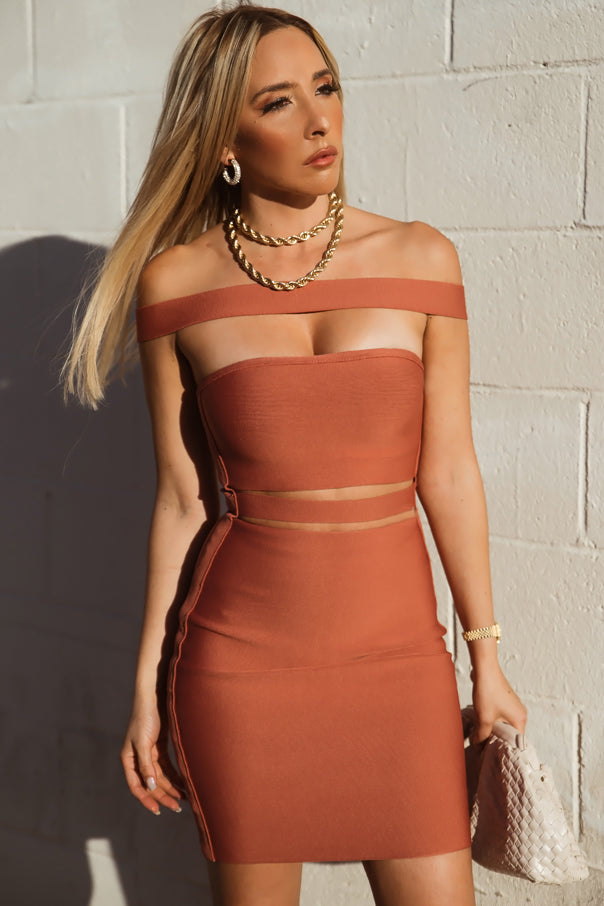 Bandage Strappy Cutout Mini Dress