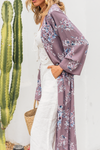 Forever Lost Floral Kimono - Dusty Purple - Haute & Rebellious