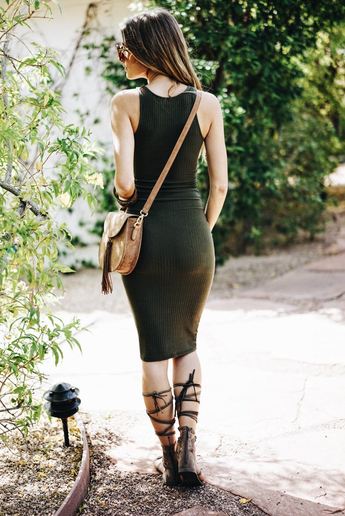 Camie Ribbed Midi Dress