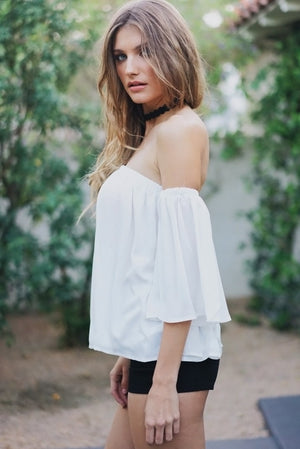 Dalia Off-Shoulder Flowy Top - Haute & Rebellious