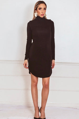 Long Sleeve Dress with Metallic Detailing