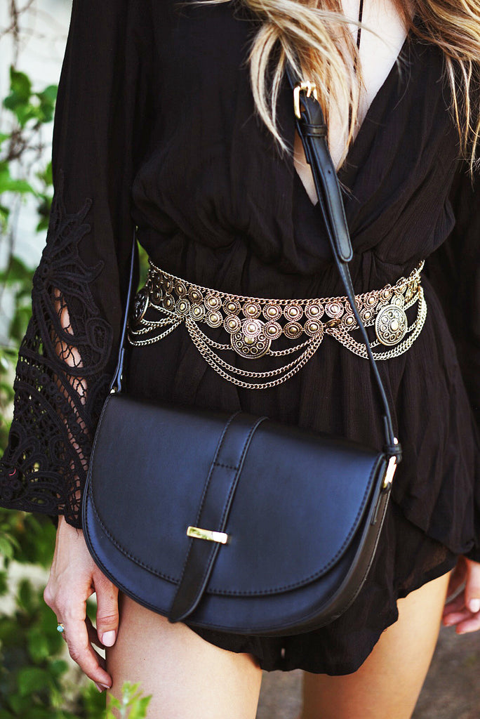 Pheby Crossbody Bag - Black
