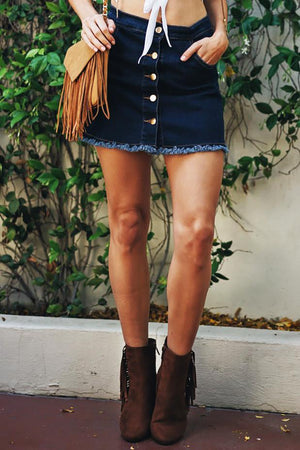 Delaney Denim Skirt - Haute & Rebellious