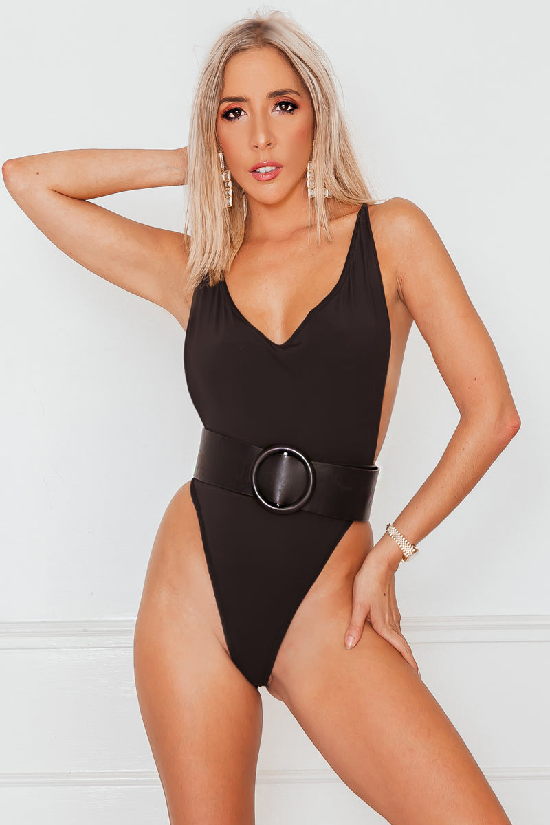 Don't Mess With Plunging Bodysuit