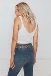 Ribbed Knit Tank - White