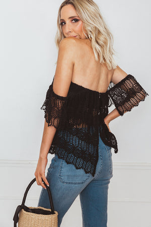 Off-Shoulder Top - Black