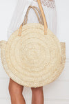 Large Round Basket  Bag - Natural