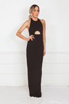 Halter Maxi Dress - Black