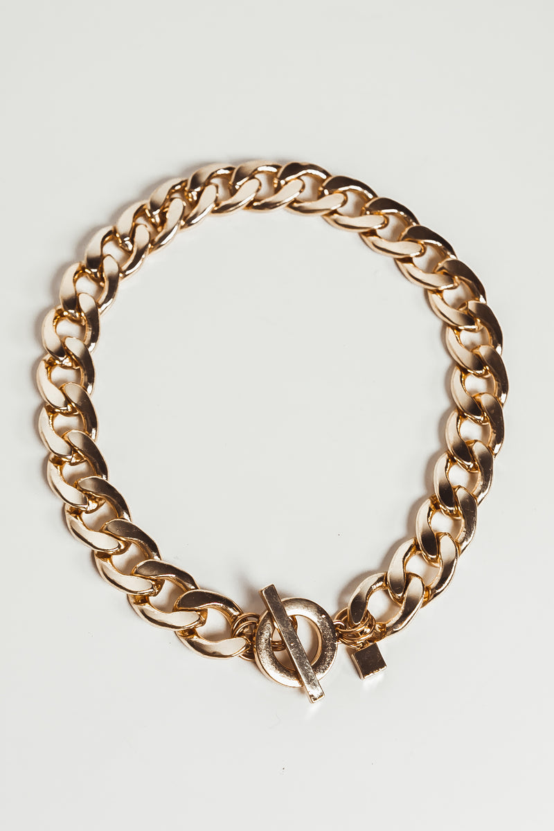 Heavy Chain Link Pendant Necklace