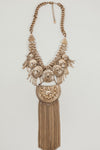 Metal Boho Statement Necklace