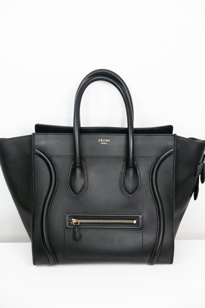 Celine Mini Luggage Bag - Black [Authentic] SOLD
