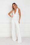 Jet Setter Cross Back Jumpsuit - White